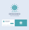 globe network arrow news worldwide business logo vector image vector image