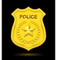 Gold Police Badge vector image vector image