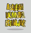 graffiti comic alphabet lettering font vector image vector image