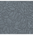 gray floral pattern vector image