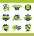 green marketing labels set of 5 vector image vector image