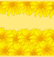 greeting invitation cards with yellow flowers vector image vector image