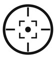 gun target icon simple style vector image