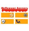 halloween pumpkin skull cobweb and bat sticker vector image