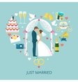 Heart Wedding Composition vector image vector image