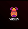 logo viking gradient colorful style vector image