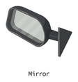 mirror car icon isometric 3d style vector image