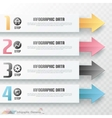 Modern infographics options banner with arrows vector image