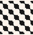 monochrome geometric seamless pattern with curved vector image vector image