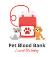 pet donor concept vector image vector image