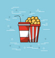 pop corn and soda concept vector image vector image