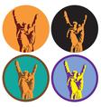 Rock Culture Symbol vector image vector image