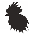Roosterheadblack vector image vector image