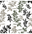 seamless pattern of olive branches mediterranean vector image vector image
