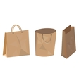 Set of paper bag for food shop and supermarket vector image