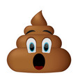 shit icon surprise faces poop emoticon vector image vector image