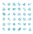 simple set barbecue related line icons vector image