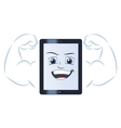 Smiling powerful tablet computer vector image vector image