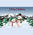 snowman in the nature vector image
