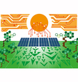 Solar cell power plant vector image vector image