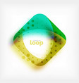 square loop business symbol geometric icon vector image