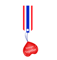 Stronger Together Heart Hanging on Stripe Tag vector image vector image