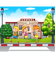 Students going to school vector image vector image