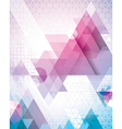 Techno triangles magenta vector | Price: 1 Credit (USD $1)