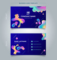 template business card and name card colorful vector image vector image