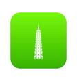 temple icon digital green vector image vector image