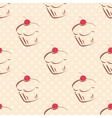 Tile cupcake pattern with polka dots on pastel vector image vector image