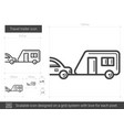 travel trailer line icon vector image