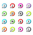 utensils for the beverages icons set vector image vector image