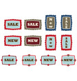 vintage tags vector image