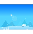 Wallpaper Landscape of Winter Mountains Igloo and vector image vector image