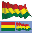 waving flag of bolivia vector image