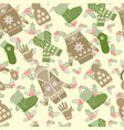 winter clothes and accessories and holly berries vector image vector image