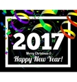 Happy New Year 2017 on a background of confetti vector image