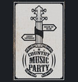 ountry music party poster template vintage banjo