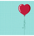 Valentines day balloon vector image