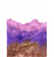 abstract dirty purple and brown watercolor vector image