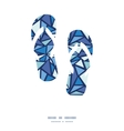 abstract ice chrystals flip flops silhouettes vector image