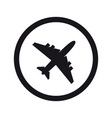 airplane symbol plane aircraft icon or sign vector image
