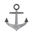 anchor marine symbol vector image vector image