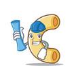 architect macaroni character cartoon style vector image vector image