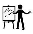 artist icon simple drawing man vector image vector image