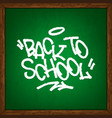 back to school on school chalkboard vector image vector image