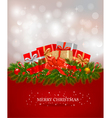 background with presents and a ribbons vector image vector image