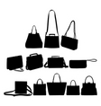 bag silhouettes vector image vector image