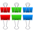 Binders clips vector image